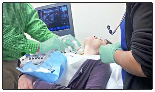 Фото пункции щитовидной железы