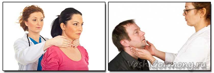 Фото - способы пальпации щитовидки