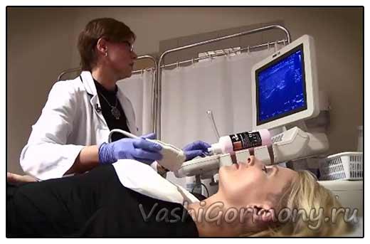 Фото: УЗИ помогает определить диффузные изменения щитовидной железы