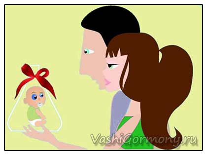 рисунок: желанный ребенок