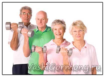 фото пожилых людей занимающихся спортом для лечения остеопороза