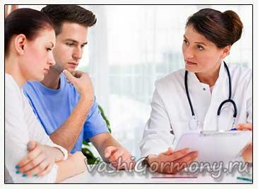 Фото семьи на консультации у врача по поводу пониженного эстрадиола
